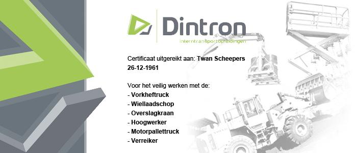 Reachstacker certificaat prijs